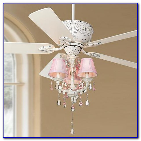 Casa Deville Rubbed White Ceiling Fan With Light