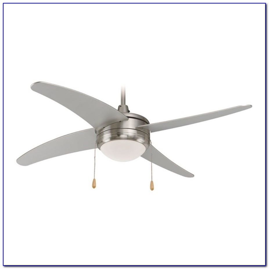 Ceiling Fan Brushed Nickel With White Blades