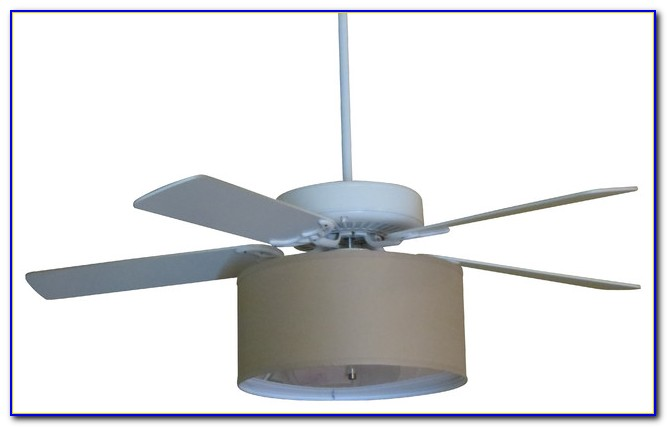 Ceiling Fan Inside Drum Shade
