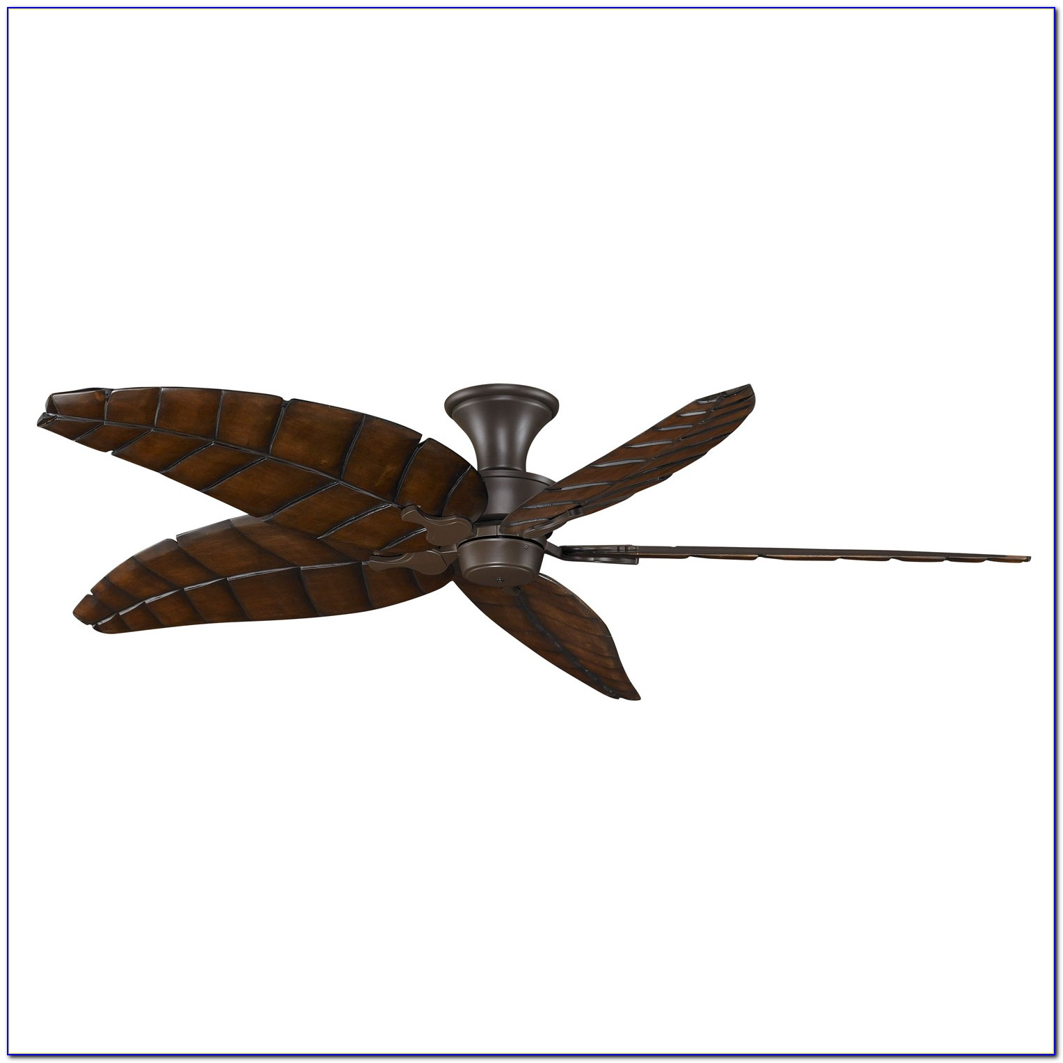 Ceiling Fan With Leaf Shaped Blades