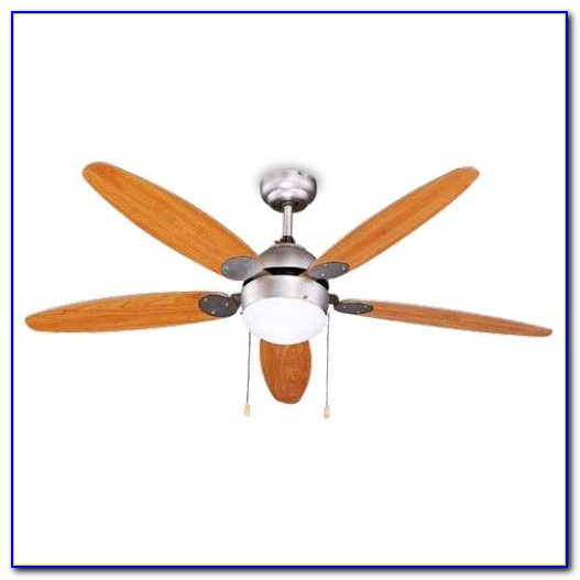 Ceiling Fan With Light Wood Blades
