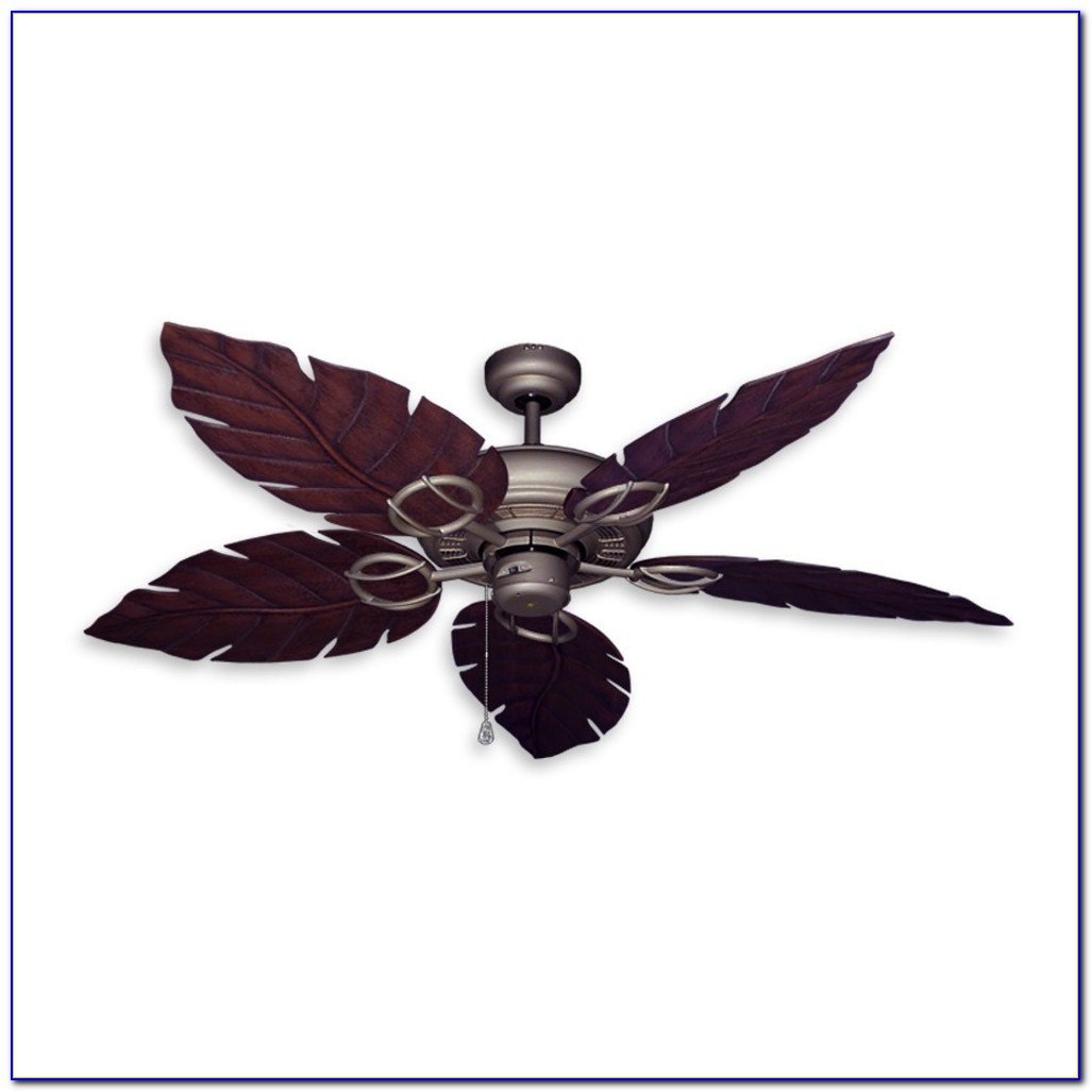 Ceiling Fan With Palm Blades