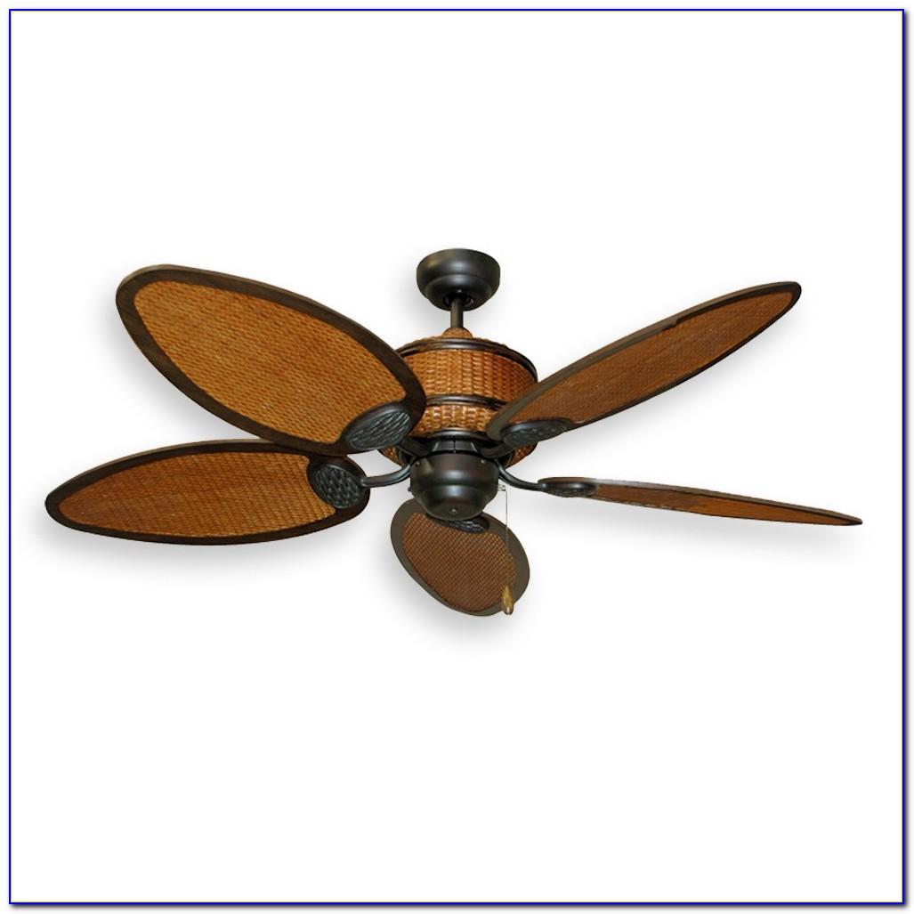Ceiling Fan With Wicker Blades