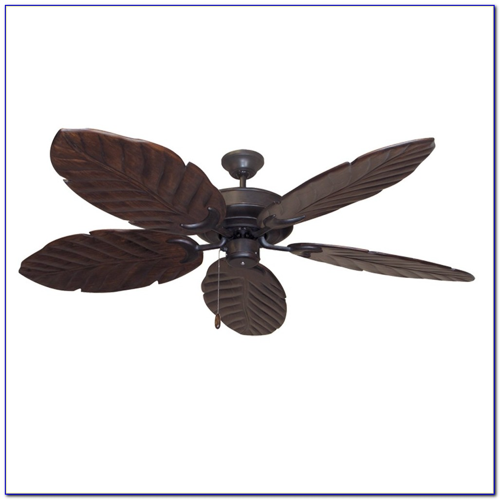 Ceiling Fan With Wood Blades