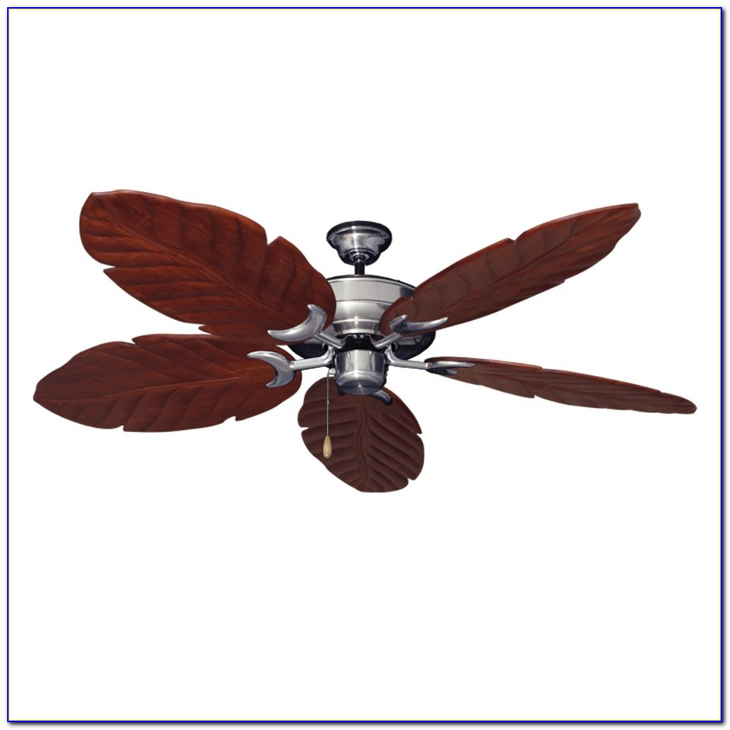 Ceiling Fan With Wooden Blades