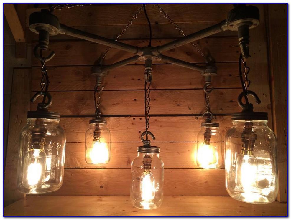 Ceiling Mount Mason Jar Lights