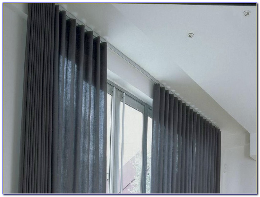 Ceiling Mounted Tracks For Curtains