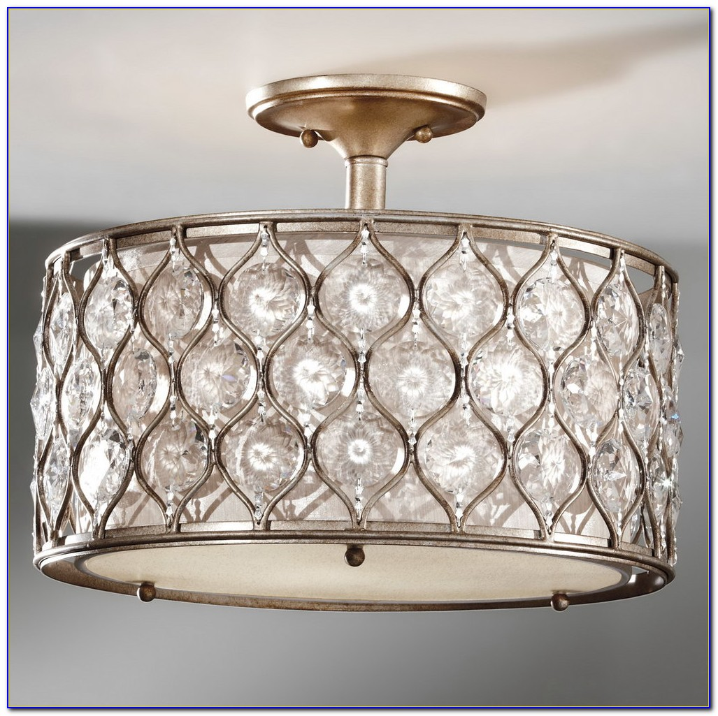 Close To Ceiling Crystal Light Fixtures