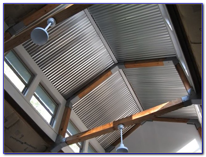 Corrugated Metal Ceiling System