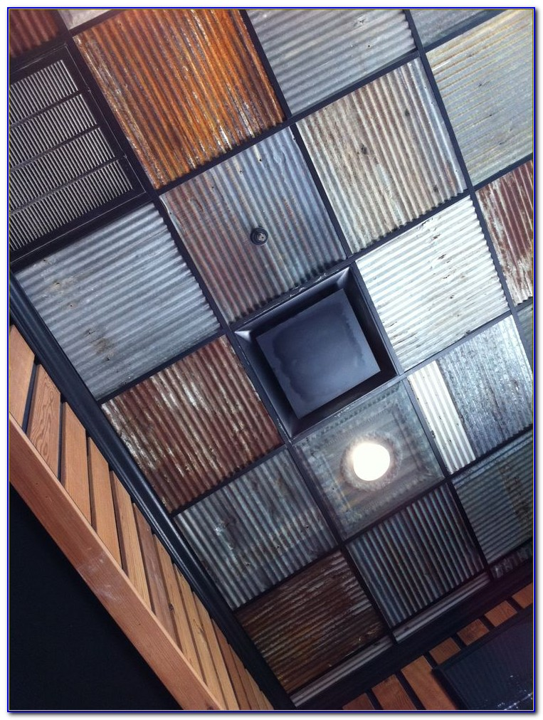 Corrugated Metal Ceiling Tiles