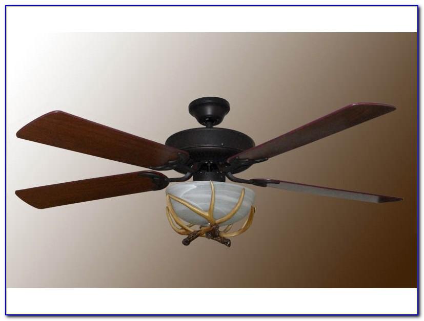Deer Antler Ceiling Fan With Light