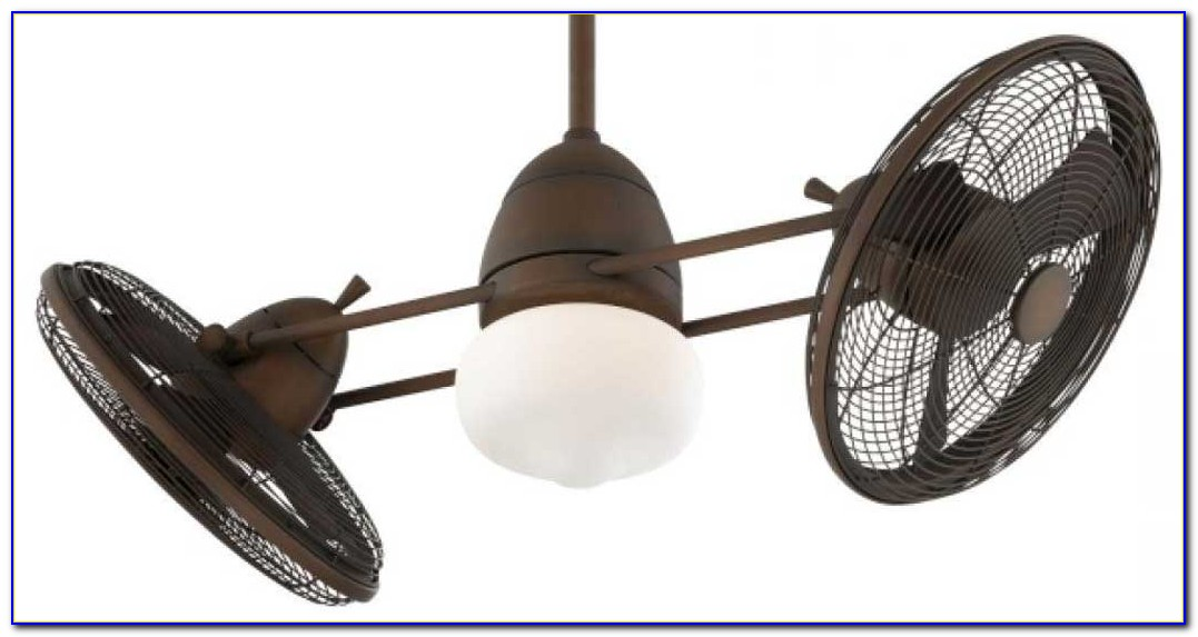 Dual Motor Ceiling Fan With Light