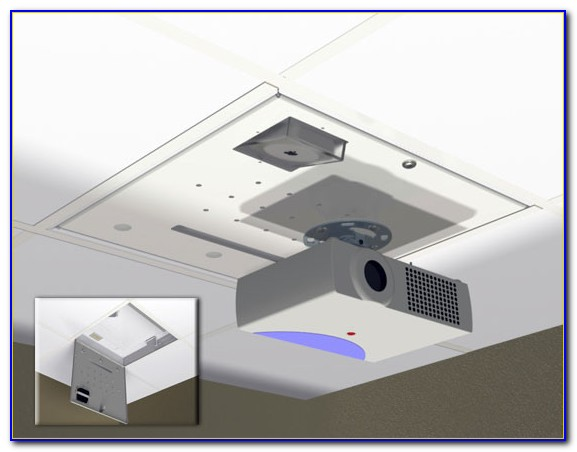 Electric Projector Mounts For Drop Ceilings