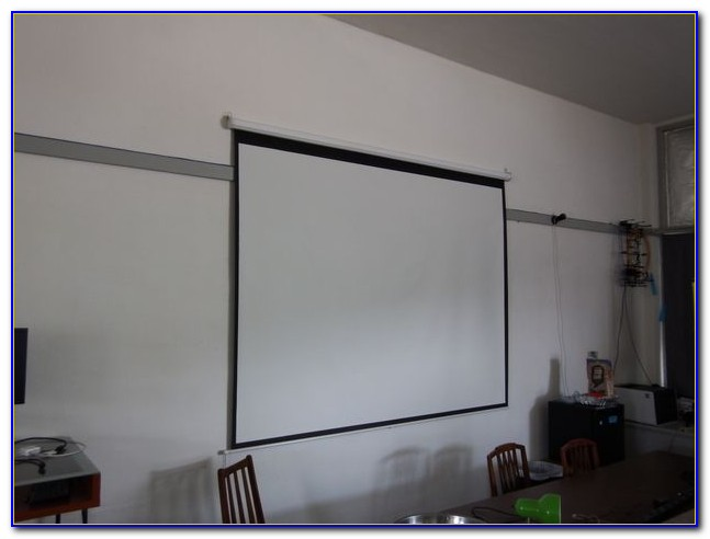 Hang Projector Screen From Drywall Ceiling