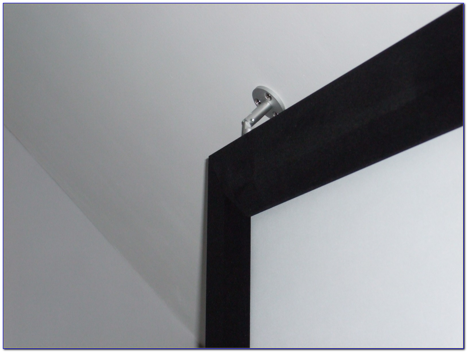 Hanging A Projector Screen From A Drop Ceiling