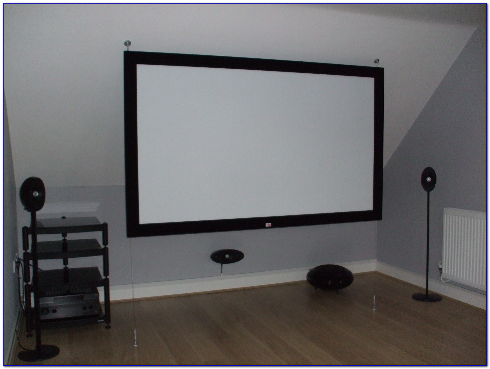 Hanging Fixed Projector Screen From Ceiling