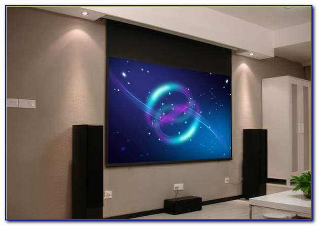 Hanging Projector Screen Plasterboard Ceiling