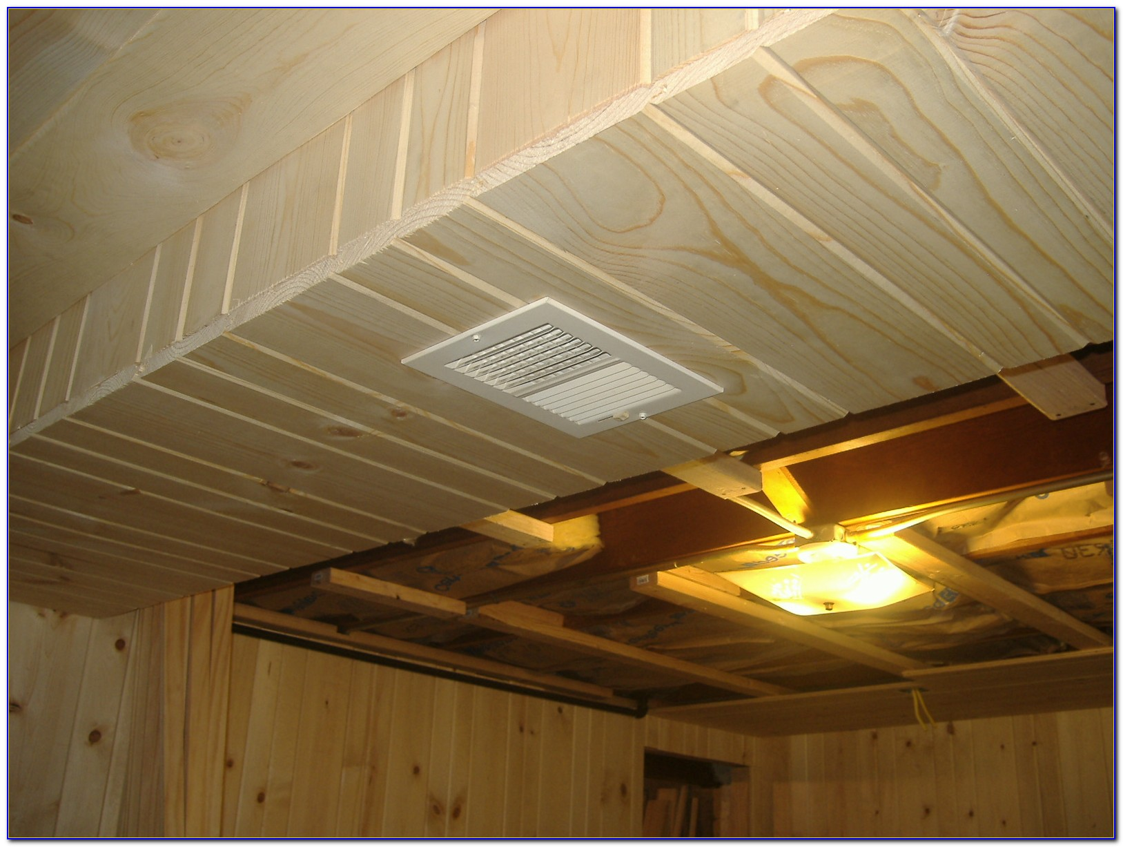 Heat Ducts In Basement Ceiling