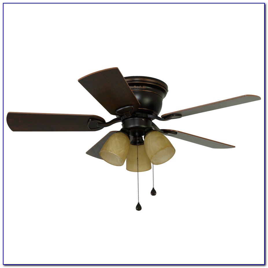 Hunter 42 Inch Flush Mount Ceiling Fan With Light