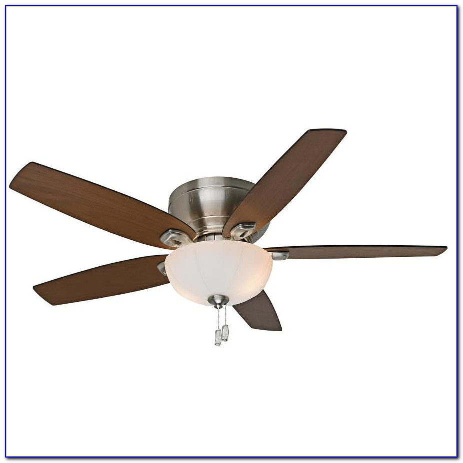 Hunter Brushed Nickel Flush Mount Ceiling Fan