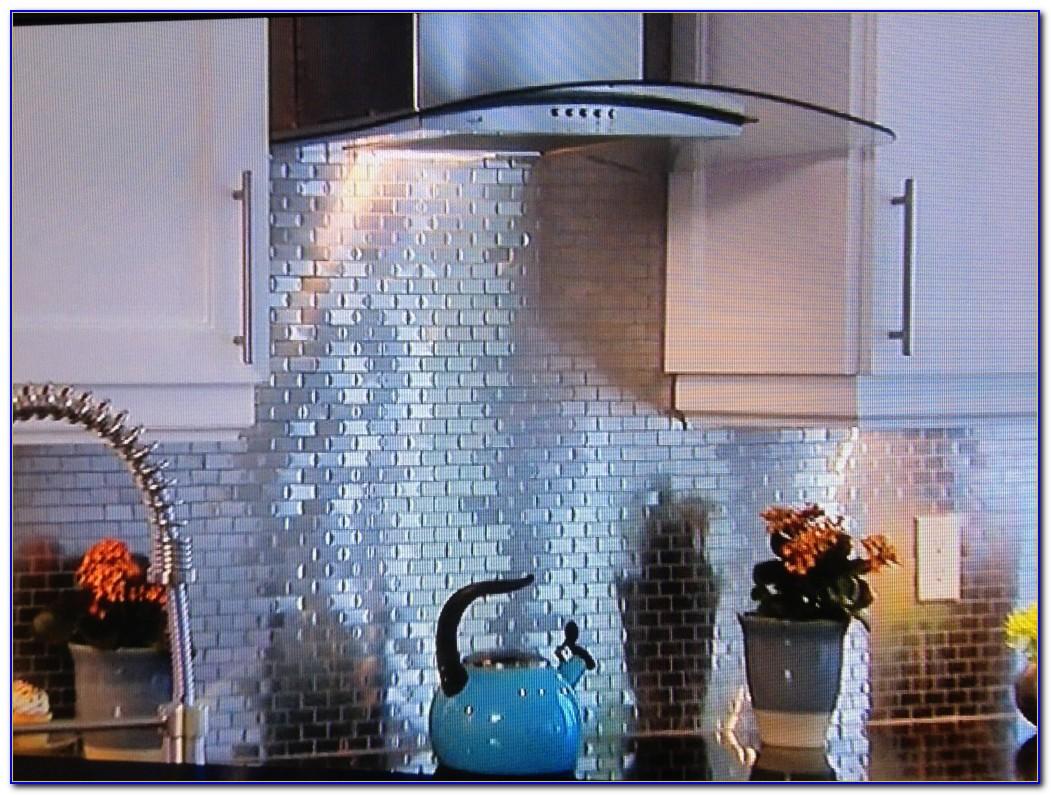 Installing Tin Ceiling Tiles As A Backsplash