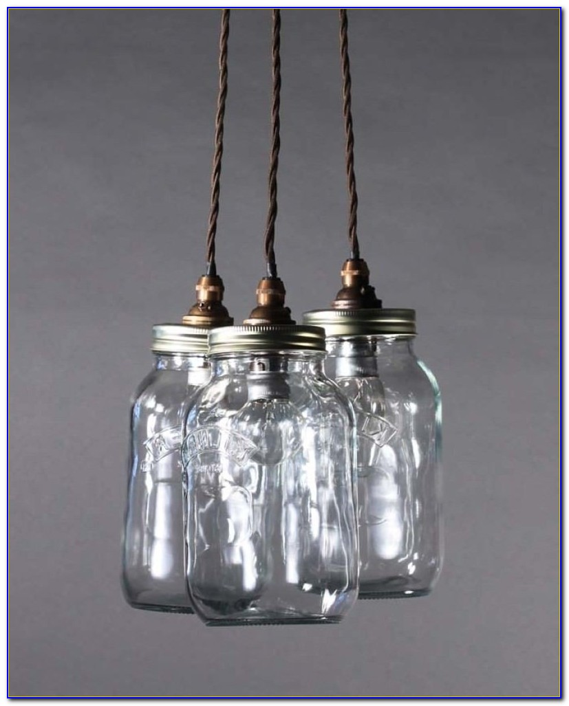 Mason Jar Ceiling Light Fixture
