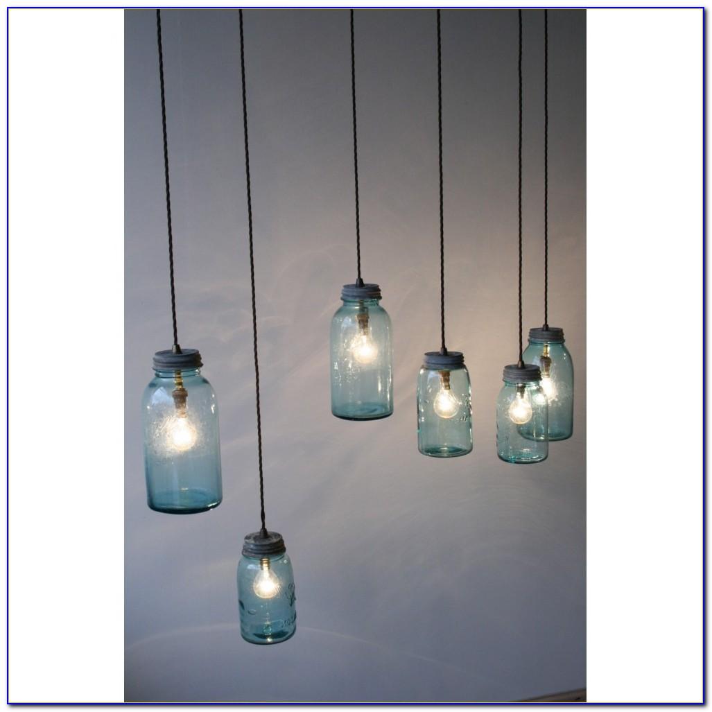 Mason Jar Chandelier Light Kit