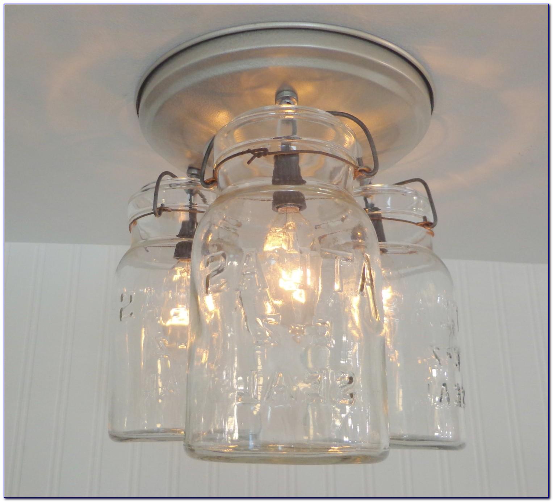 Mason Jar Chandelier Lights