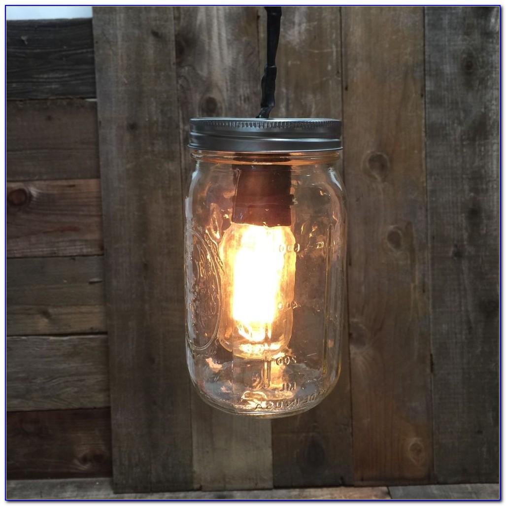 Mason Jar Light Chandelier Diy