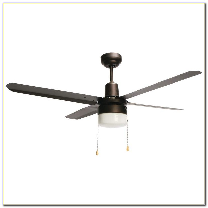 Metal Blade Ceiling Fan With Light