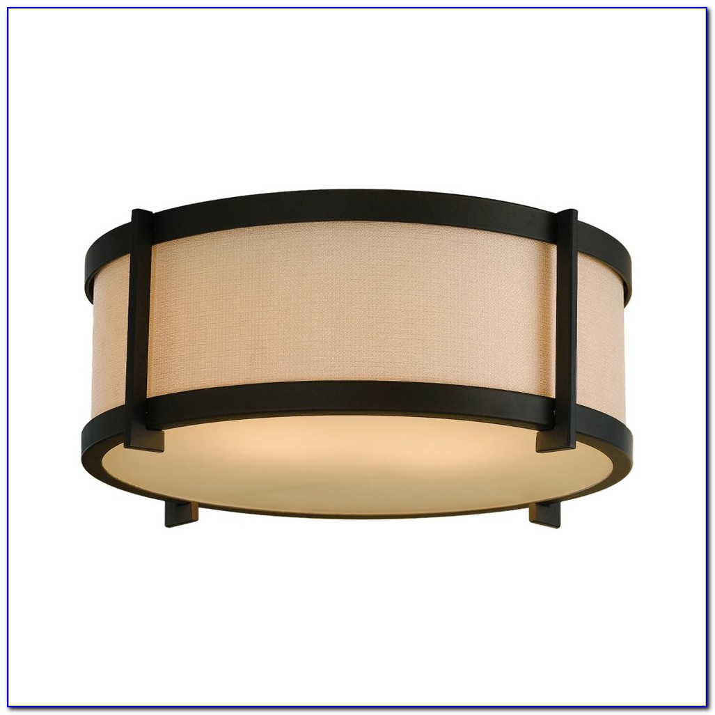Oil Rubbed Bronze Ceiling Fan With Light Flush Mount