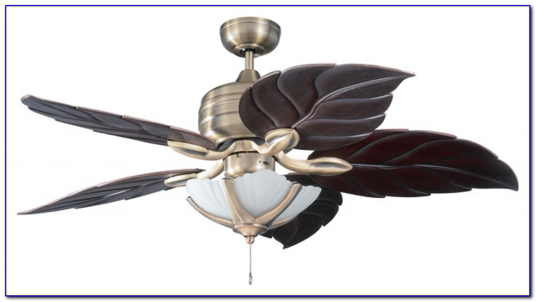 Palm Leaf Ceiling Fan Hampton Bay