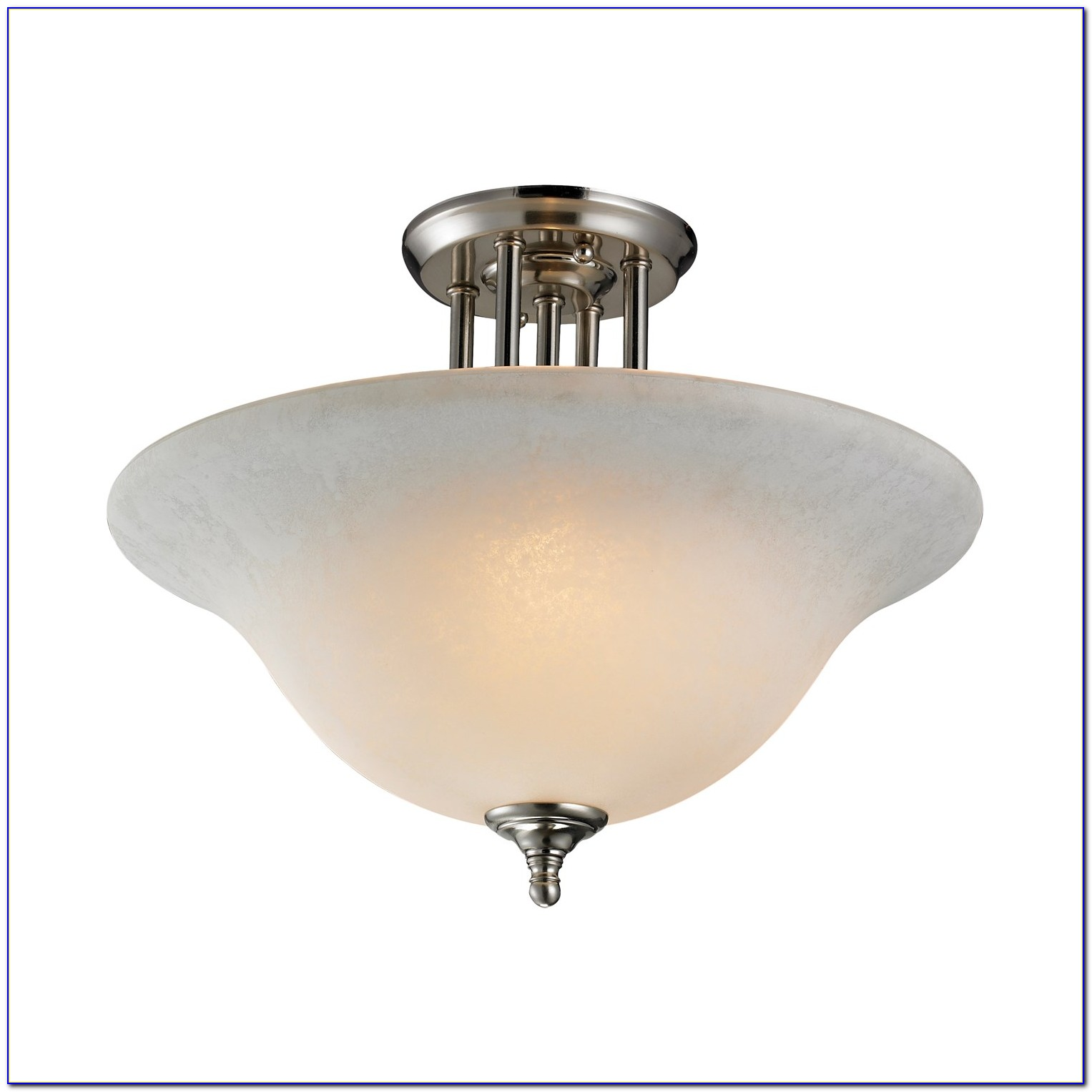 Polished Nickel Semi Flush Mount Light