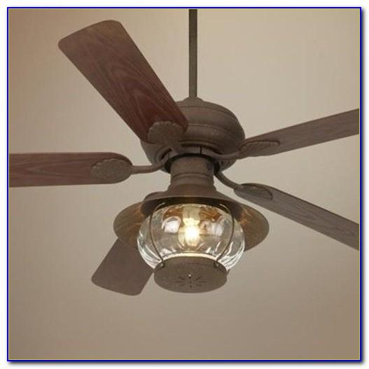 Rustic Outdoor Ceiling Fan Light Kit