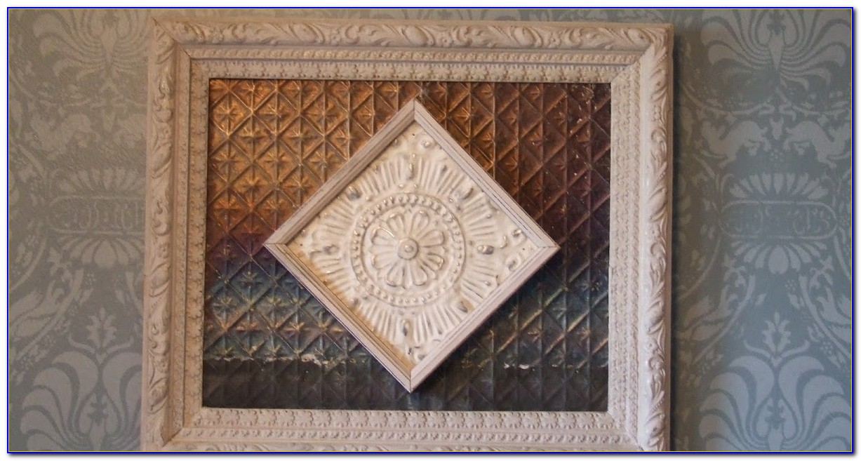 Salvaged Tin Ceiling Panels