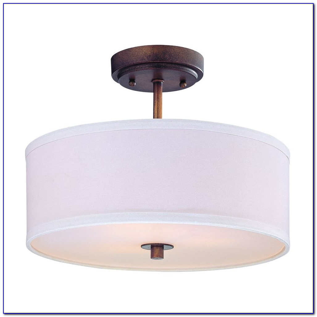 Springfield Drum Shade Semi Flush Ceiling Light