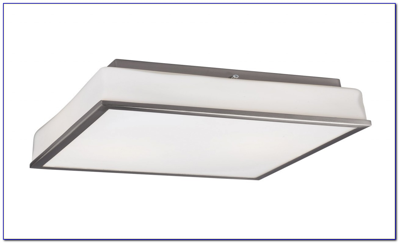 Square Ceiling Fluorescent Light Fixture