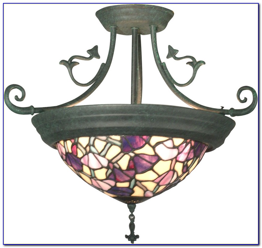 Tiffany Style Flush Mount Ceiling Light Uk