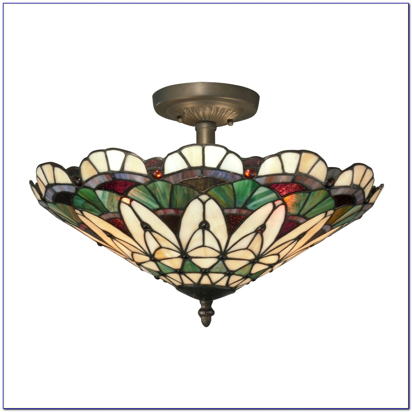 Tiffany Style Flush Mount Ceiling Light