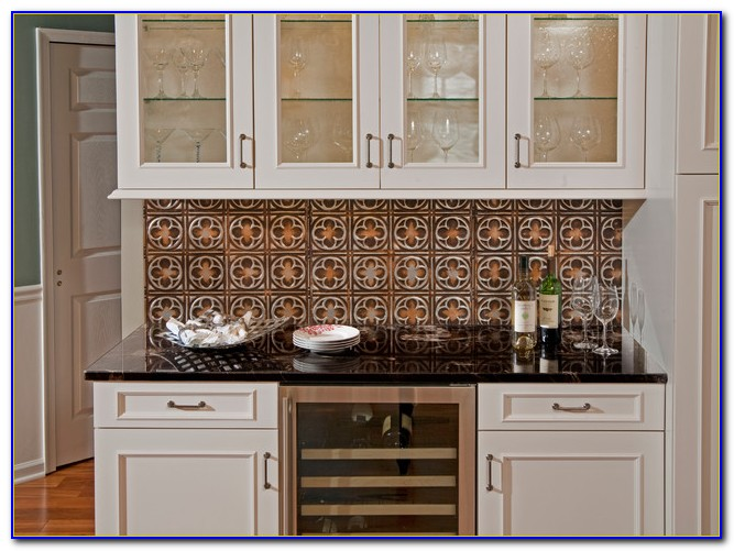 Tin Ceiling Tiles Backsplash Ideas