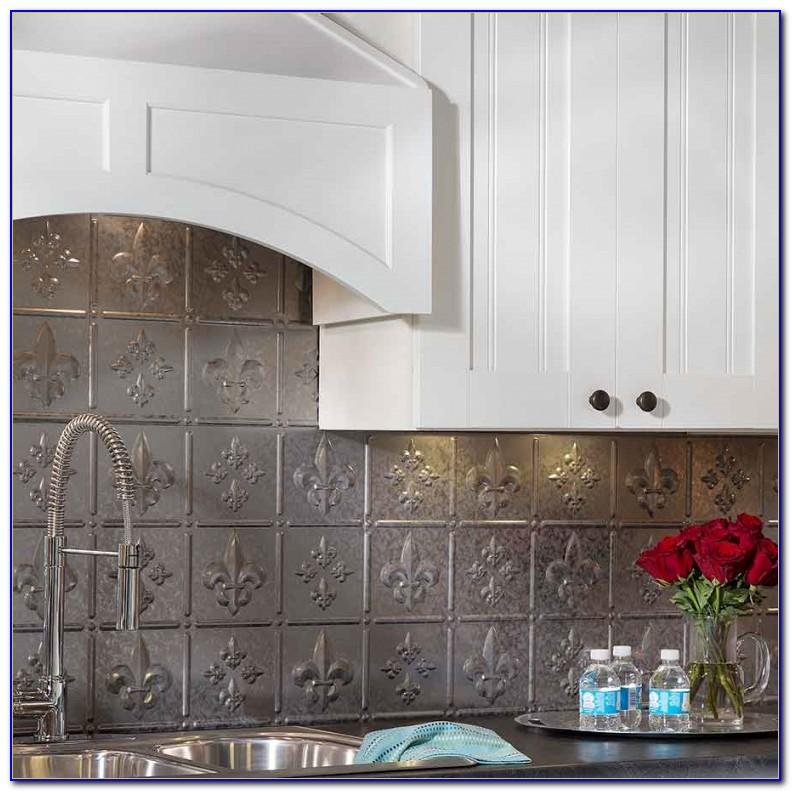 Using Tin Ceiling Tiles Kitchen Backsplash