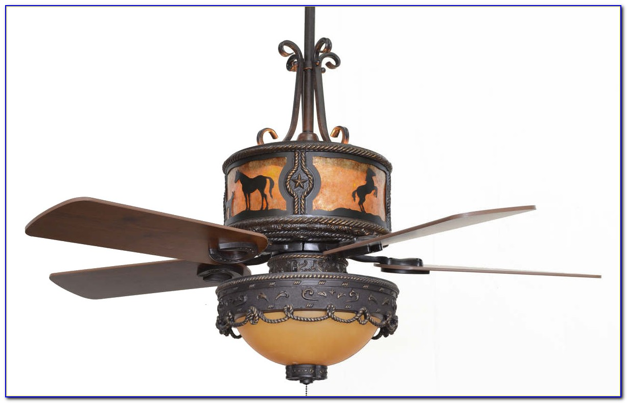 Western Style Ceiling Fans With Lights