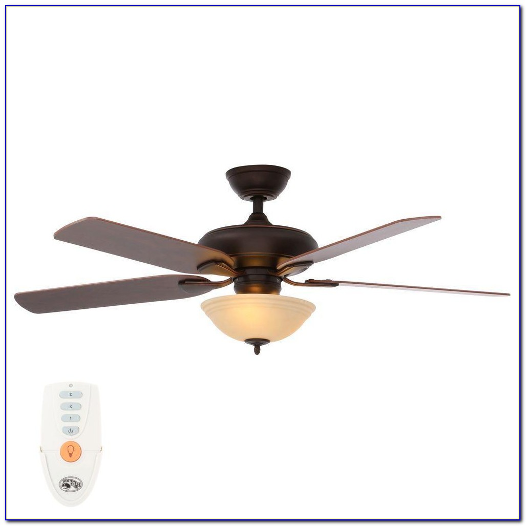 White Flush Mount Ceiling Fan With Remote Control
