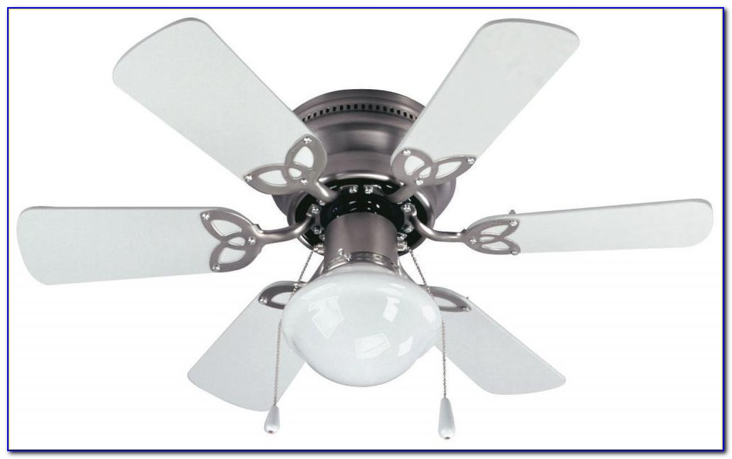 White Hugger Ceiling Fan With Remote
