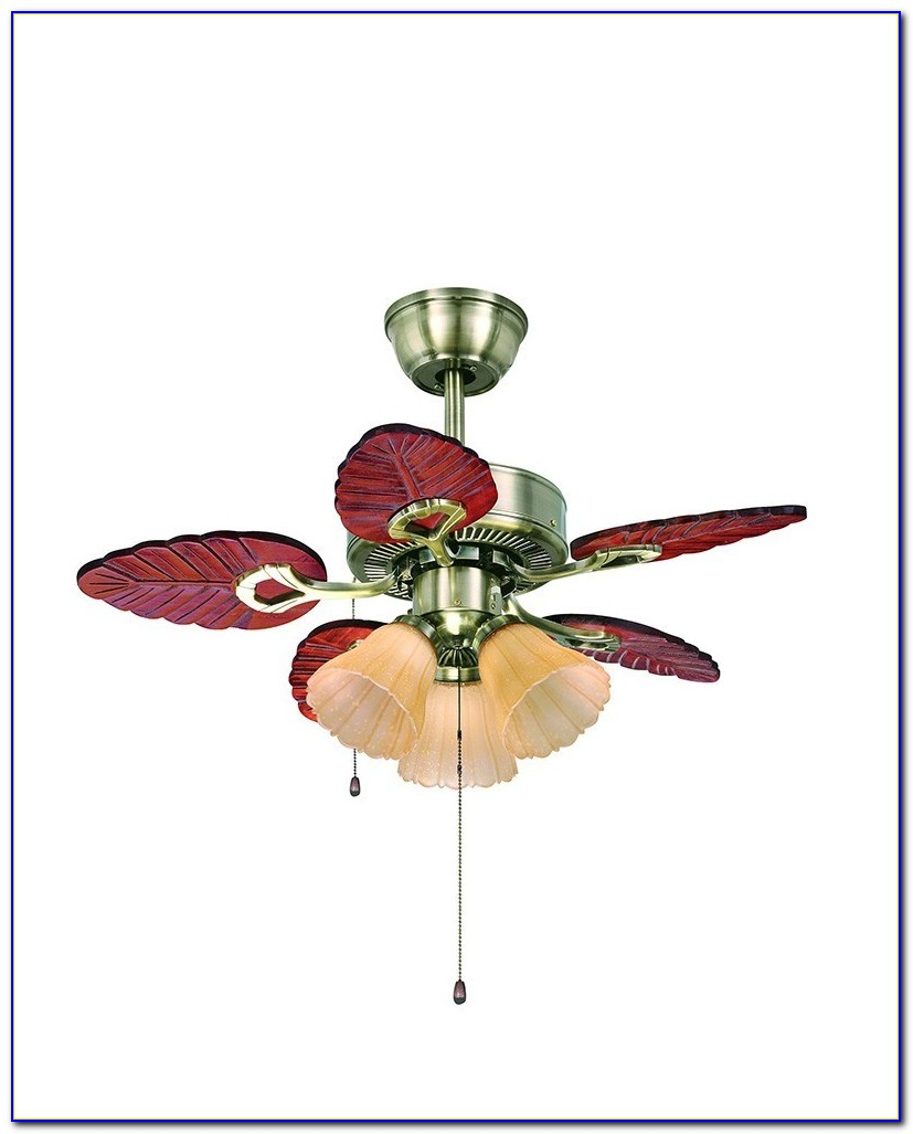 White Palm Leaf Ceiling Fan Blades