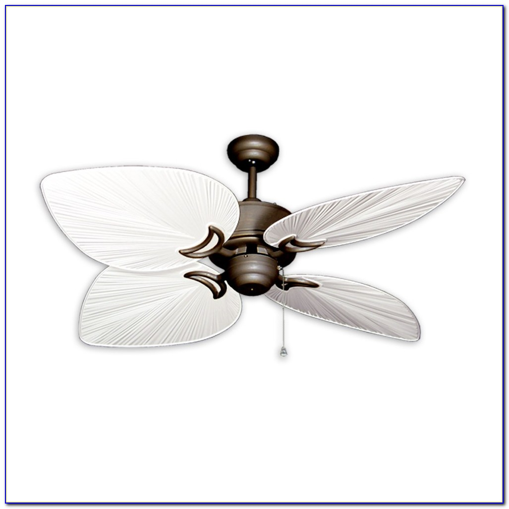 White Tropical Outdoor Ceiling Fan