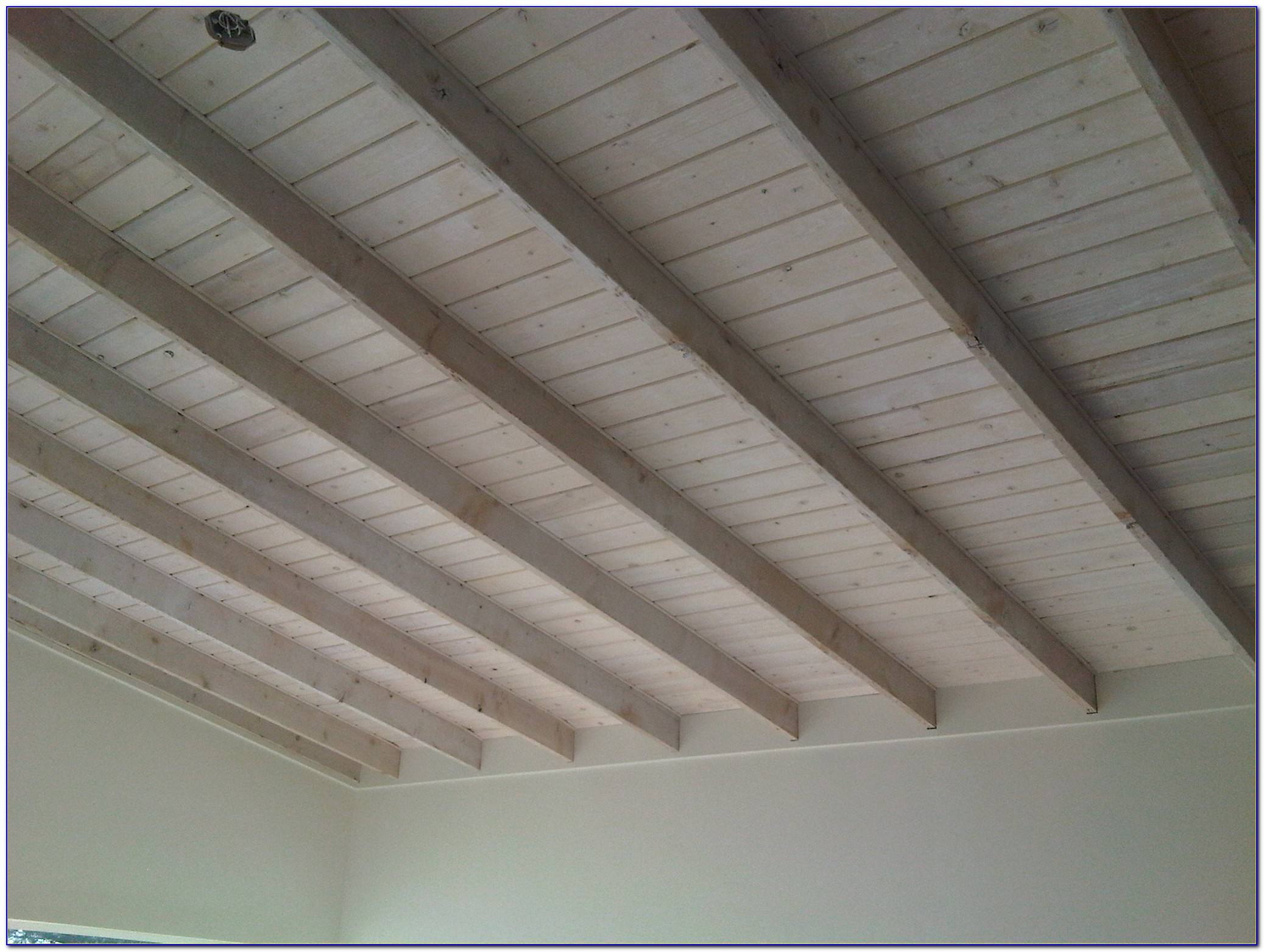 White Wash Ceiling Planks