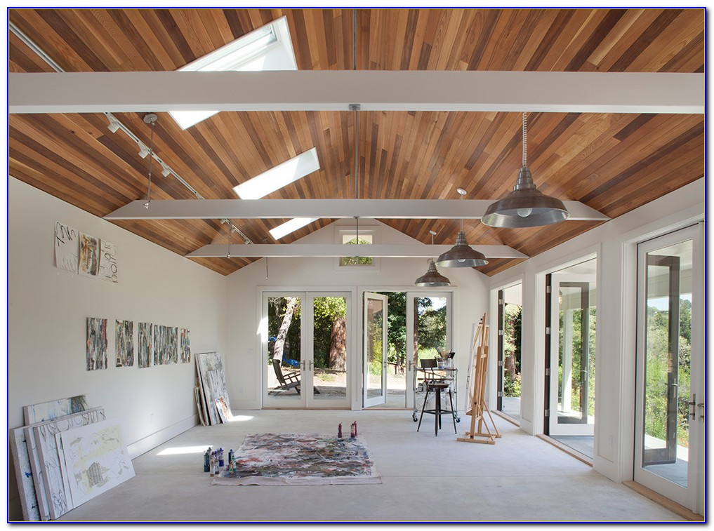 White Wood Tongue And Groove Ceiling