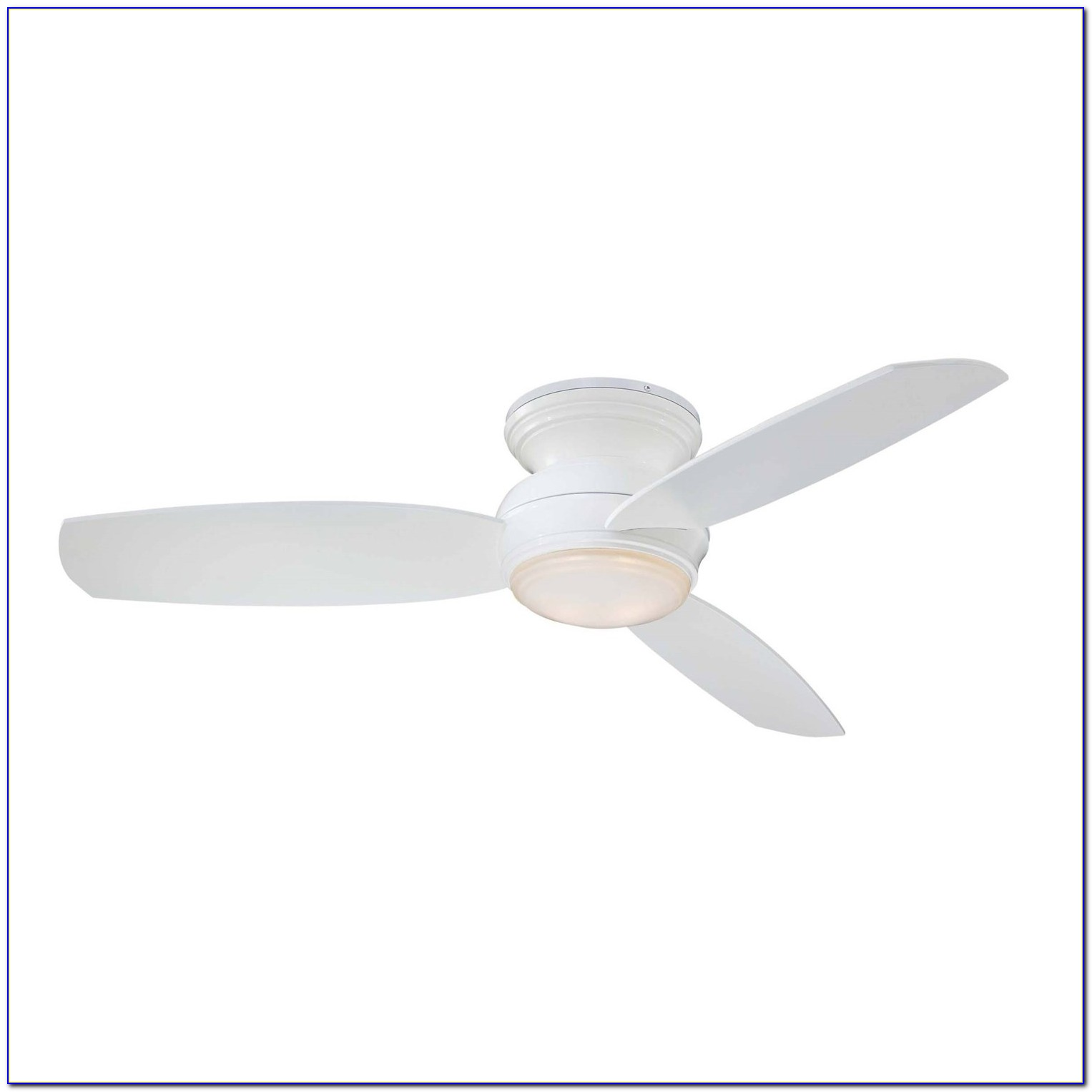 3 Blade White Ceiling Fan With Light