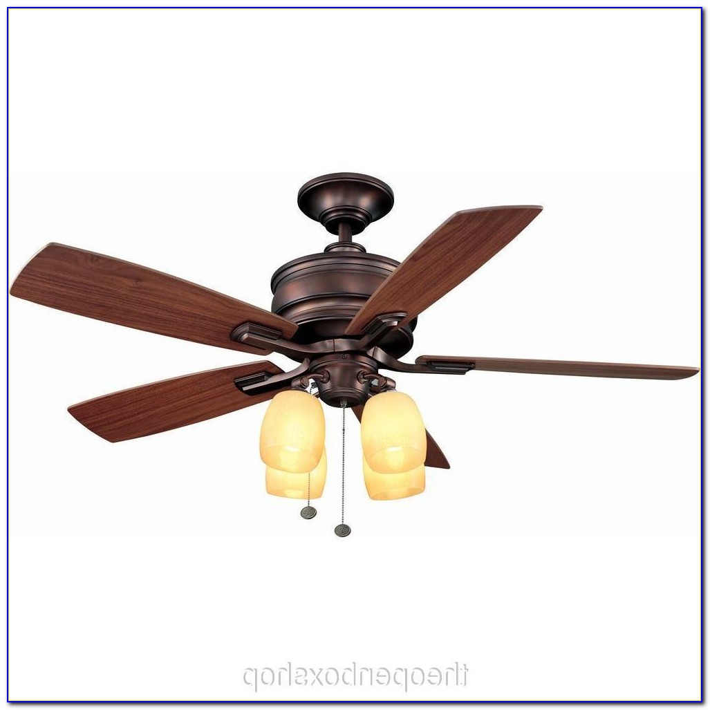 52 Hampton Bay Tiffany Style Ceiling Fan And Light